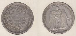 France  5 Francs 1876 K  Hercule  1876K - J. 5 Francs