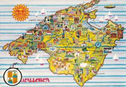 España--Mallorca--Plano De Poblaciones  Y Detalles De La Isla- - Mapas