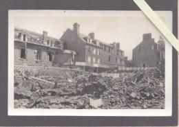 Manche - Avranches - Apres Les Bombardements Guerre 39/45 Carte-photo Non Légendée - Avranches