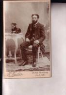 Homme Et Son Chien Photo CDV Années 1900 Gand Washer - Alte (vor 1900)