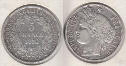 France  5 Francs 1850 A   Cérès    1850A - J. 5 Francs