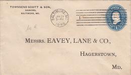 Entier Postal Etats-Unis Baltimore MD,One Cent 1895