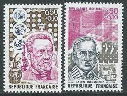 1973 FRANCIA PRO CROCE ROSSA PERSONAGGI CELEBRI 2 VALORI MNH ** - G16 - Unused Stamps