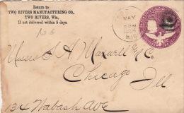 Entier Postal Etats-Unis Two Rivers, Postage Two Cents 1894