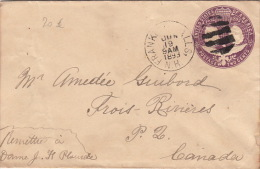 Entier Postal Etats-Unis Franklin, Postage Two Cents 1893
