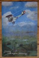 Diving With Engine Running - Aviation / Avion Biplan - Tuck's Postcard - (n°4424) - Flugzeuge