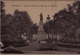 SEVILLA-Plaza Del Museo Y Estatua De Murillo - Sevilla