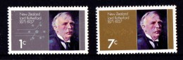 New Zealand 1971 Lord Rutherford Physicist Set Of 2 MNH - New Zealand
