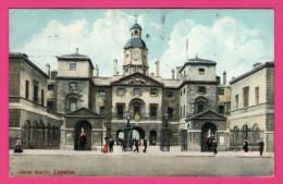 London - Horse Guards - Animée - HARTMANN - 1909 - Couleurs - London Suburbs
