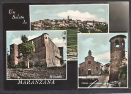 7260-UN SALUTO DA MARANZANA(ASTI)-FG - Saluti Da.../ Gruss Aus...