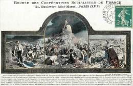 ref J13- bourse des cooperatives socialistes de france  -21 bld saint marcel - paris 13eme - carte bon etat -
