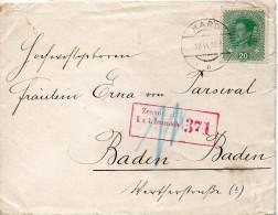 AUTRICHE LETTRE CENSUREE POUR L'ALLEMGNE 1918 - 1850-1918 Empire