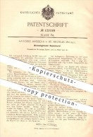 Original Patent - Antoine Janssens In Saint-Nicolas , Belgien , 1900 , Wärmeabgebender Rippenmantel , Heizung - Saint-Nicolas