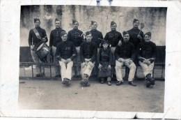 58Cc   Carte Photo Militaires Soldats Du 25 Eme Regiment Enfant Cantinier Tambour - Regiments