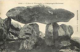 "- Finistere - Ref- D187 - Brignogan Kerlouan - "" L Arc De Triomphe "" - Dolmen - Carte Bon Etat - - Kerlouan"