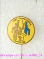 Sport: Basketball Competition Vilnius 1982y _L088 - 1 Badge / Enamel, Heavy Metal Old RARE - Baseball