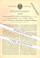 Original Patent - Dr. Chr. Heinzerling U. Dr. J. Schmid , Zürich , 1887 , Chlorglas Aus Verdünnten Chlor - Gasgemischen - Documents Historiques