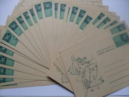 LIECHTENSTEIN 27 UNUSED PRE-PAID STATIONARY CARDS POSTKARTE `COURVOISIER 1965` - Enteros Postales