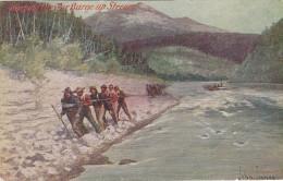 Cowboy Art ; Artist John Innes , Warping The Barge Up Stream , 00-10s - Non Classificati