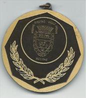 MED145 -MEDAGLIA - TORNEO INTERNAZIONALE PER POLIZIE EUROPEE - RICCIONE 1983 - Tennis