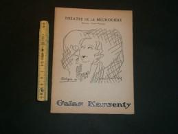 PARIS 1954 - THEATRE DE LA MICHAUDIERE GALAS KARSENTY LES CYCLONES - Programme - Programmes