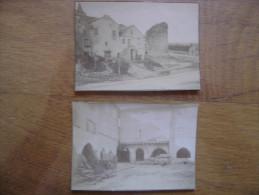 1900's 2 Photos ANCIENNE MAISON AUX PILIERS TOURS FOSSES SAUVETERRE 5X9 Cm  Environ - Photos