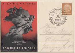 DR Privat-Ganzsache Minr. PP122 C75/02 SST Chemnitz 9.1.38 - Deutschland
