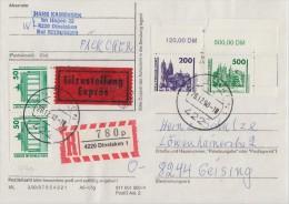 Bund Päckchen Als Einschreiben, Express  Dinslaken 29.12.90 Seltene Frankatur - BRD