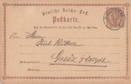 DR Ganzsache Nachv. Stempel Ronneburg - Deutschland