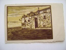 PRIMI  900  TARANTO  XILOGRAFIA   ILLUSTRATA  CASOTTI  ARTISTICA ARTISTIQUE   VIAGGIATA  COME DA FOTO FORMATO PICCOLO - Taranto
