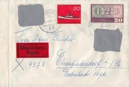 Bund R-Brief Mif Mit Schwärzungen Braunschweig 24.9.65 Gel. In DDR Postkrieg - BRD