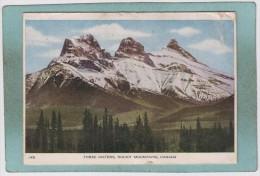 THREE  SISTERS  -  ROCKY  MOUNTAINS   -  1948  - - Alberta