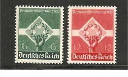 III-Mi.Nr.571-72/ Berufswetttkampf 1935 ** - Unused Stamps