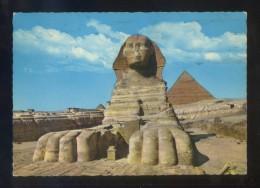 Guiza *The Great Sphinx Of Giza...* Ed. Lehnert & Landrock Nº 507. Circulada Aswan 1976. - Aéreo