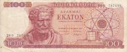 Billet Grèce 100 De 1967 - Greece