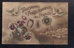 Militaria - Patriotique / Guerre 1914 1918 / Militaire Poilu,trèfle /  Talismans & Porte Bonheur Des Poilus - Patriotiques