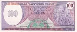 Billet Suriman 100 Gulden Du 01 11 1985 - Surinam