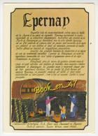 {74136} 51 Marne Epernay , Carte Postale Tirée Du Tableau Touristique Réalisé Par Les R A Bour - Epernay