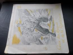 Calendrier 1948 Ceux du Maquis et de la R�sistance Dessin De Favier