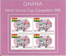 Ghana Football WC 1966  Football - Soccer   Bloc 22, Unused - 1966 – Inglaterra