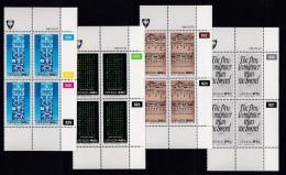 VENDA, 1990, MNH Controls Blocks Of 4, History Of Writing, M 204-207 - Venda