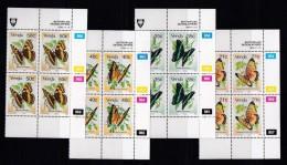 VENDA, 1990, MNH Controls Blocks Of 4, Butterflies, M 213-216 - Venda
