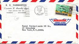 Bahamas Air Mail Cover Sent To USA 10-6-1971 - Bahamas (1973-...)