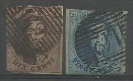 Belgique - Médaillons N°10(1)+11A(1) Obl. P142 WESTERLOO