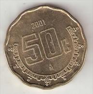 *mexico 50 Centavos 2001  Km 549  Unc - Mexique