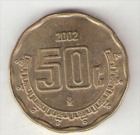 *mexico 50 Centavos 2002  Km 549  Unc - Mexico