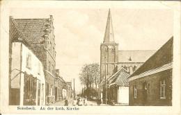 """CP De SONSBECK """" An Der Kath. Kirche """" ( Cachet POSTES MILITAIRES BELGE Nr 11 ) - Wesel"""