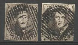 Belgique - Médaillons N°6(2) Obl. P149 SOLRE-SUR-SAMBRE - 1851-1857 Médaillons (6/8)