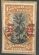 CONGO BELGE N� 88 OBL SUR FRAGMENT