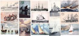 Lot De 72 Cartes CPA De Voiliers - VOIR SCANS - Marine Voilier Bateau Sailboat Sail Boat - Toutes Scannées - - Sailing Vessels